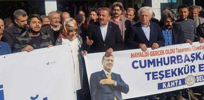 Belediye İşçilerinden Erdoğan'a Teşekkür