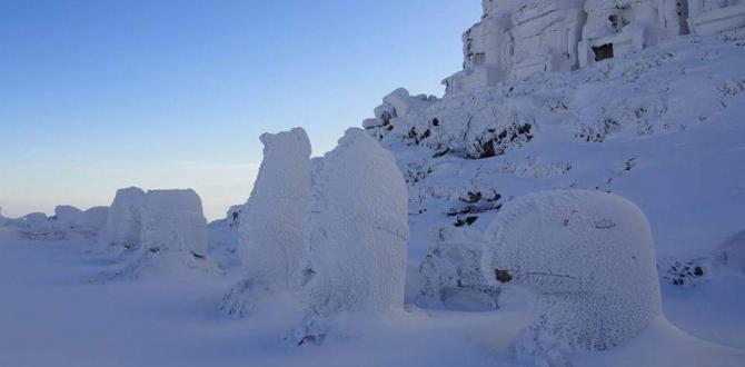 Turistler 5 Saatte Nemrut Dağı'na Tırmandı