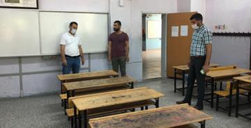 LGS öncesi sınavı salonları uygun hale getiriliyor
